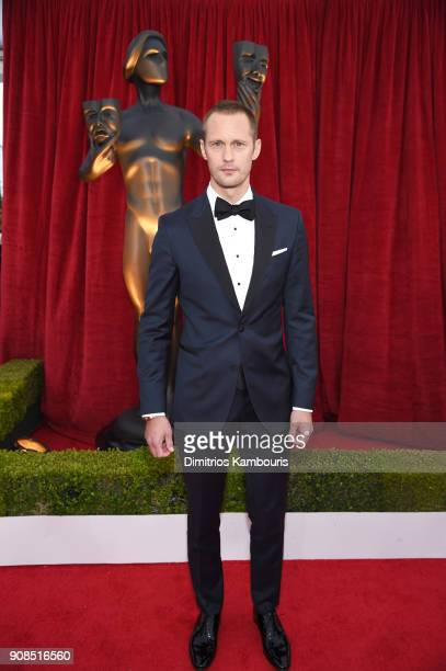 Actor Alexander Skarsgard attends the 24th Annual Screen Actors Guild Awards at The Shrine Auditorium on January 21 2018 in Los Angeles California...