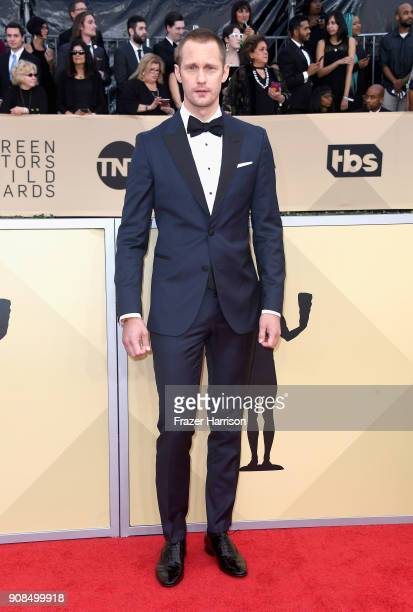 Actor Alexander Skarsgard attends the 24th Annual Screen ActorsGuild Awards at The Shrine Auditorium on January 21 2018 in Los Angeles California