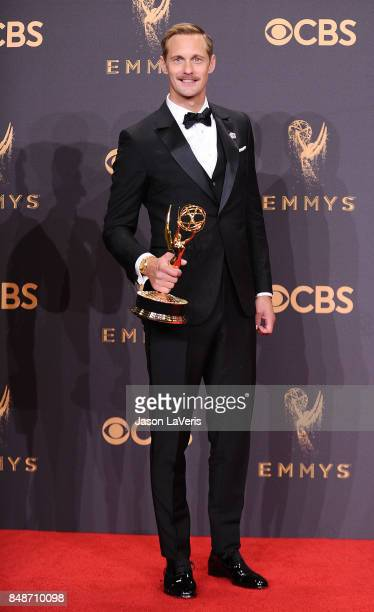 Actor Alexander Skarsgard attends the 69th annual Primetime Emmy Awards at Microsoft Theater on September 17 2017 in Los Angeles California