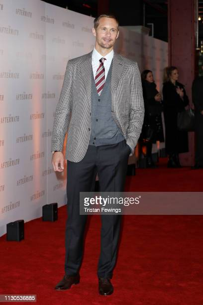 Actor Alexander Skarsgard attends 'The Aftermath' World Premiere held at The Picturehouse Central on February 18 2019 in London England