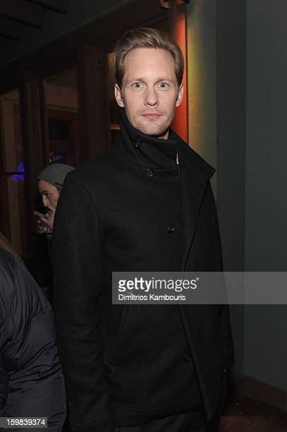 Actor Alexander Skarsgard attends the CAA Sundance Party featuring Simon Hammerstein's The Act LV on January 20 2013 in Park City Utah