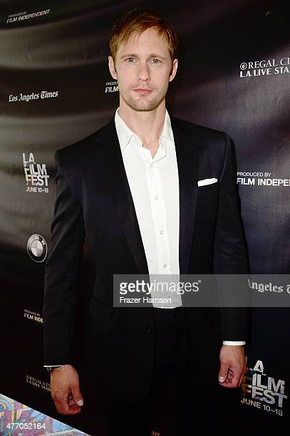 Actor Alexander Skarsgard attends the Diary of a Teenage Girl screening during the 2015 Los Angeles Film Festival at Regal Cinemas LA Live on June 13...