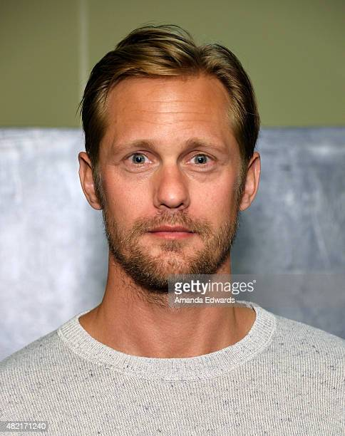 Actor Alexander Skarsgard attends the Los Angeles Times Indie Focus Screening of The Diary Of A Teenage Girl at the Sundance Sunset Cinema on July 27...