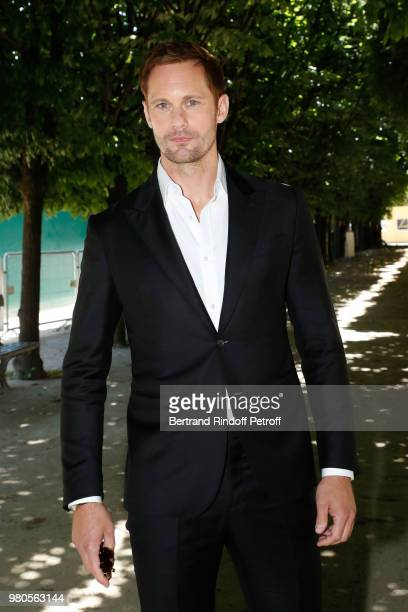 Actor Alexander Skarsgard attends the Louis Vuitton Menswear Spring/Summer 2019 show as part of Paris Fashion Week on June 21 2018 in Paris France