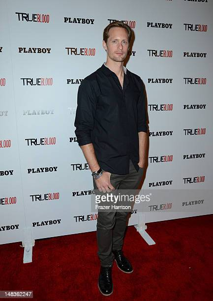 Actor Alexander Skarsgard attends the Playboy and True Blood 2012 Event on July 14 2012 in San Diego California