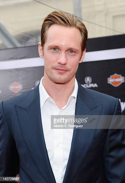 Actor Alexander Skarsgard attends the premiere of Marvel Studios' Marvel's The Avengers held at the El Capitan Theatre on April 11 2012 in Hollywood...