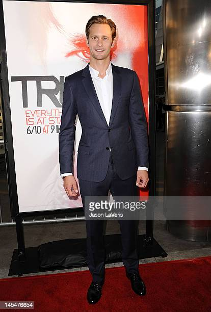 Actor Alexander Skarsgard attends the season 5 premiere of HBO's True Blood at ArcLight Cinemas Cinerama Dome on May 30 2012 in Hollywood California