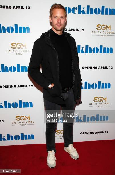 "Actor Alexander Skarsgard attends the ""Stockholm"" New York Premiere at Museum of Modern Art on April 11, 2019 in New York City."