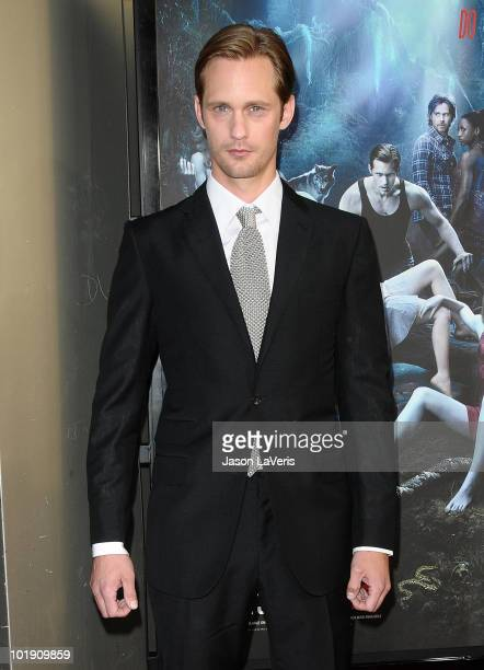 Actor Alexander Skarsgard attends the third season premiere of HBO's True Blood at ArcLight Cinemas Cinerama Dome on June 8 2010 in Hollywood...