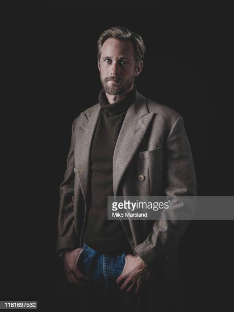 Actor Alexander Skarsgard is photographed on October 18 2019 at Esquire Town House in London England