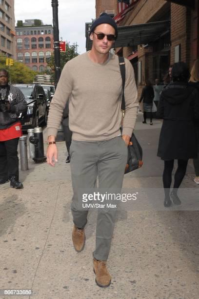 Actor Alexander Skarsgard is seen on October 26 2017 in New York City