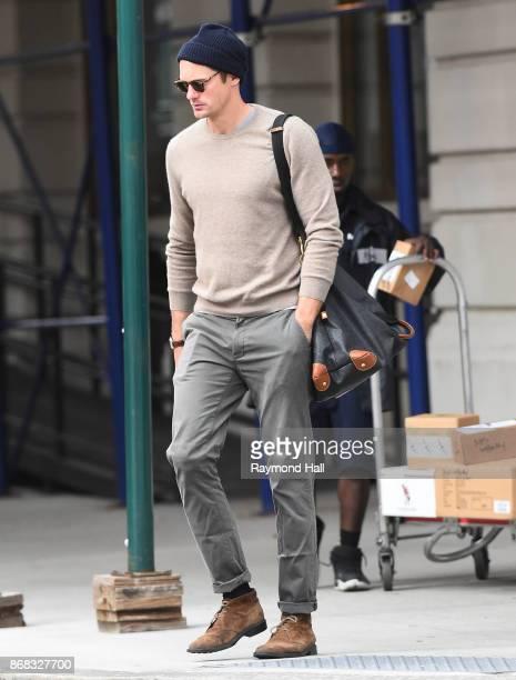 Actor Alexander Skarsgard is seen walking in Soho on October 30 2017 in New York City