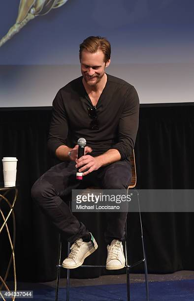 Actor Alexander Skarsgard speaks on stage during QA for The Diary of a Teenage Girl at SCAD Museum of Arts during Day Three of the18th Annual...