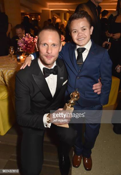 Actor Alexander Skarsgård and Sam Humphrey attends HBO's Official 2018 Golden Globe Awards After Party on January 7 2018 in Los Angeles California