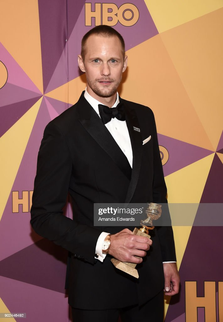 Actor Alexander Skarsgård arrives at HBO's Official Golden Globe Awards After Party at Circa 55 Restaurant on January 7, 2018 in Los Angeles, California.
