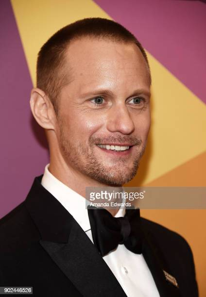 Actor Alexander Skarsgård arrives at HBO's Official Golden Globe Awards After Party at Circa 55 Restaurant on January 7 2018 in Los Angeles California
