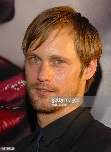 Actor Alexander Skarsgård arrives at the Los Angeles Premiere of HBO's Series True Blood at The Cinerama Dome on September 4 2008 in Hollywood...