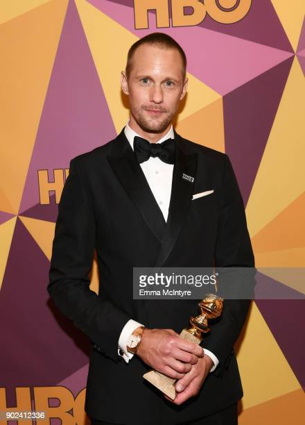 Actor Alexander Skarsgård attends HBO's Official Golden Globe Awards After Party at Circa 55 Restaurant on January 7 2018 in Los Angeles California