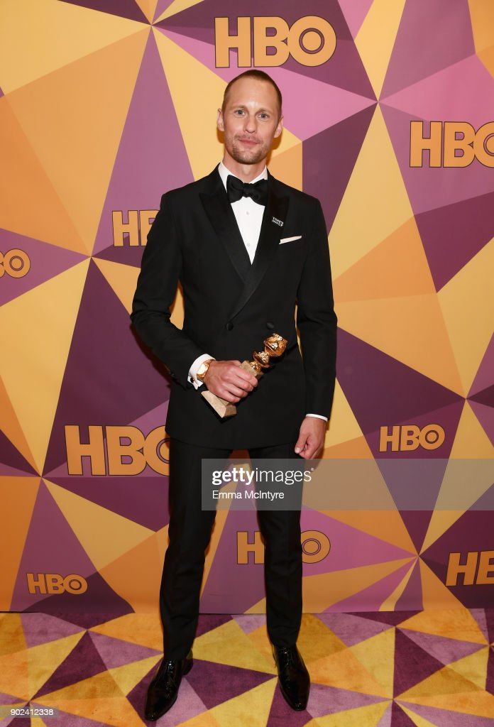 Actor Alexander Skarsgård attends HBO's Official Golden Globe Awards After Party at Circa 55 Restaurant on January 7, 2018 in Los Angeles, California.