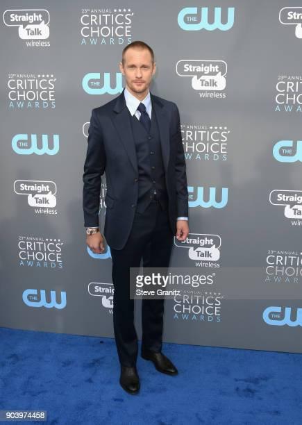 Actor Alexander Skarsgård attends The 23rd Annual Critics' Choice Awards at Barker Hangar on January 11 2018 in Santa Monica California