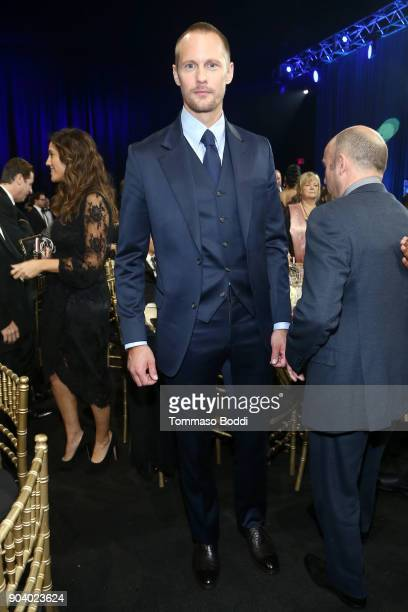 Actor Alexander Skarsgård attends the 23rd Annual Critics' Choice Awards on January 11 2018 in Santa Monica California