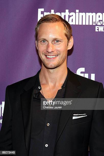 Actor Alexander Skarsgård attends the Entertainment Weekly and Syfy party celebrating Comic-Con at Hotel Solamar on July 25, 2009 in San Diego,...