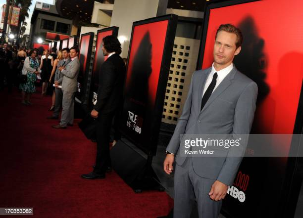 Actor Alexander Skarsgård attends the premiere of HBO's True Blood at ArcLight Cinemas Cinerama Dome on June 11 2013 in Hollywood California