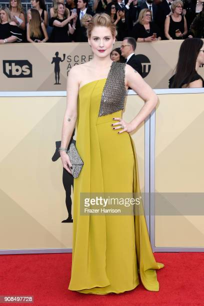 Actor Alexandra Breckenridge attends the 24th Annual Screen Actors Guild Awards at The Shrine Auditorium on January 21 2018 in Los Angeles California