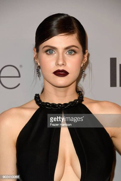 Actor Alexandra Daddario attends 19th Annual PostGolden Globes Party hosted by Warner Bros Pictures and InStyle at The Beverly Hilton Hotel on...