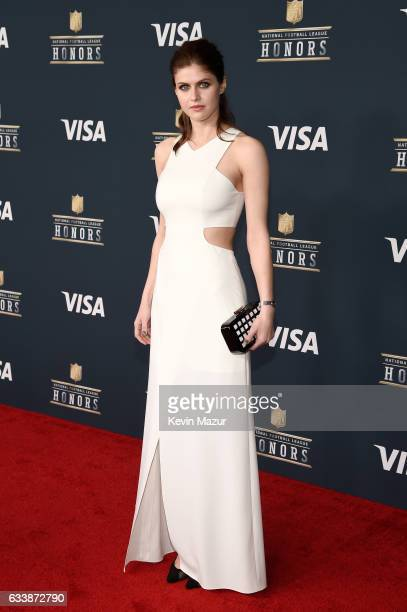 Actor Alexandra Daddario attends 6th Annual NFL Honors at Wortham Theater Center on February 4 2017 in Houston Texas