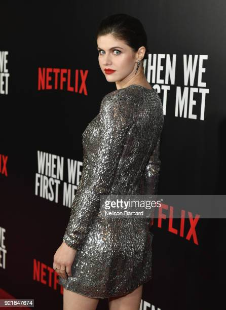 Actor Alexandra Daddario attends Special Screening Of Netflix Original Film' When We First Met at ArcLight Theaters at ArcLight Hollywood on February...