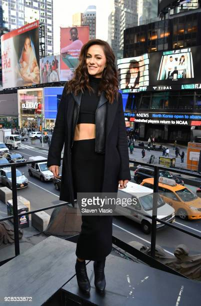 Actor Alexandra Park visits Extra at Hard Rock Cafe Times Square on March 6 2018 in New York City