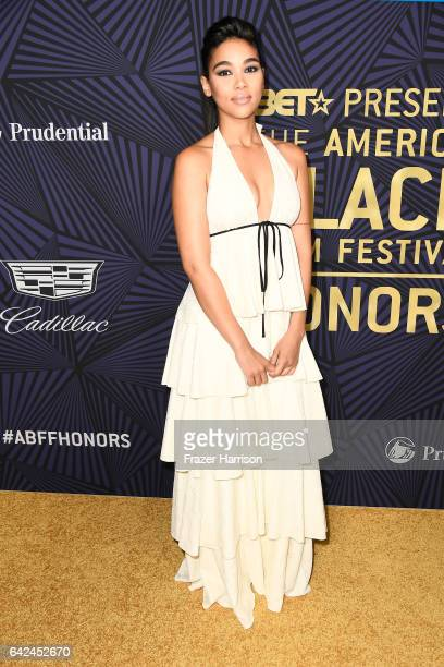 Actor Alexandra Shipp attends BET Presents the American Black Film Festival Honors on February 17 2017 in Beverly Hills California