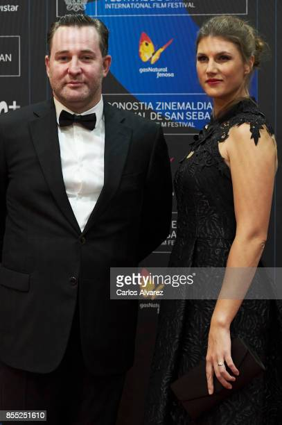 Actor Alexey Rozin and actress Maryana Spivak attend 'Nelyubov/ Loveless' premiere during the 65th San Sebastian International Film Festival on...