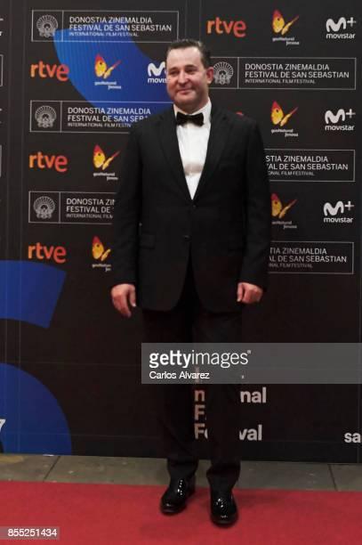 Actor Alexey Rozin attends 'Nelyubov/ Loveless' premiere during the 65th San Sebastian International Film Festival on September 28 2017 in San...