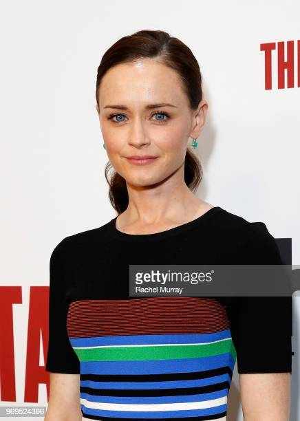 Actor Alexis Bledel arrives at Hulu's 'The Handmaid's Tale' FYC at Samuel Goldwyn Theater on June 7 2018 in Beverly Hills California