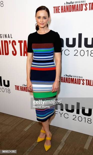 Actor Alexis Bledel arrives at Hulu's The Handmaid's Tale FYC at Samuel Goldwyn Theater on June 7 2018 in Beverly Hills California