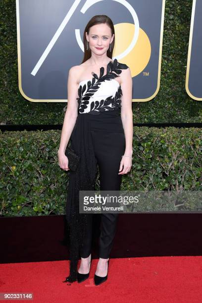 Actor Alexis Bledel attends The 75th Annual Golden Globe Awards at The Beverly Hilton Hotel on January 7 2018 in Beverly Hills California