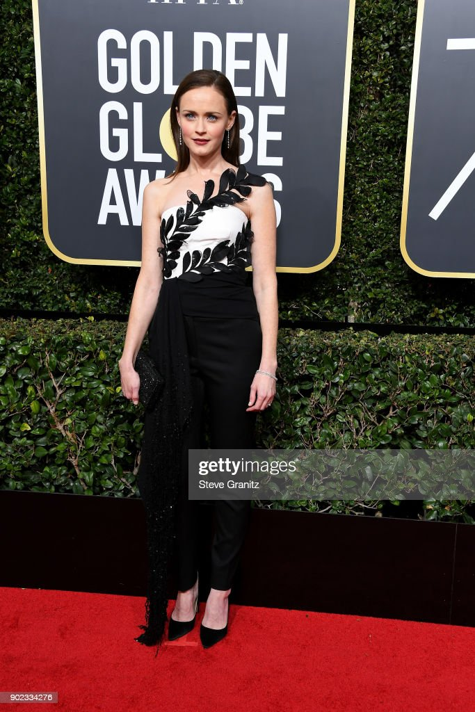 Actor Alexis Bledel attends The 75th Annual Golden Globe Awards at The Beverly Hilton Hotel on January 7, 2018 in Beverly Hills, California.