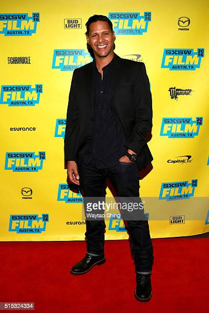 Actor Alexis DeLaRosa attends the premiere of 'Hunter Gatherer' during the 2016 SXSW Music Film Interactive Festival at Vimeo on March 12 2016 in...
