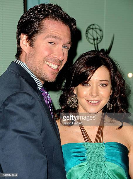 Actor Alexis Denisof and actress Alyson Hannigan attend An Evening with How I Met Your Mother at the Leonard H Goldenson Theatre on January 27 2009...