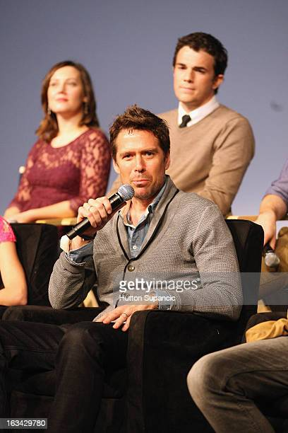 Actor Alexis Denisof speaks onstage at the Much Ado About Much Ado Panel during the 2013 SXSW Music Film Interactive Festival at Austin Convention...