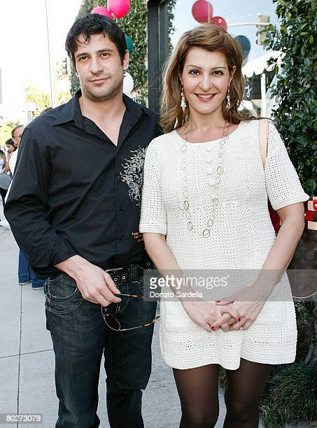Actor Alexis Georgoulis and actress Nia Vardalos attends the Cindy Carwford Rende Berger host the John Varvatos 6th Annual Stuart House Benefit...