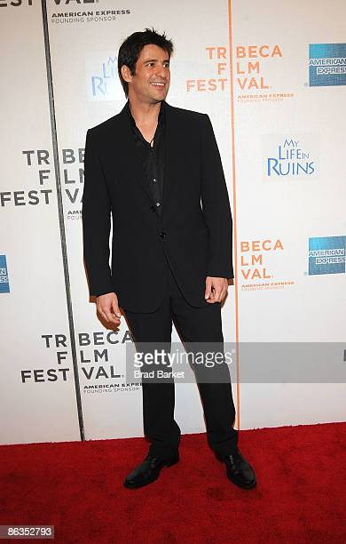 Actor Alexis Georgoulis attends the premiere of 'My Life in Ruins' during the 2009 Tribeca Film Festival at BMCC Tribeca Performing Arts Center on...