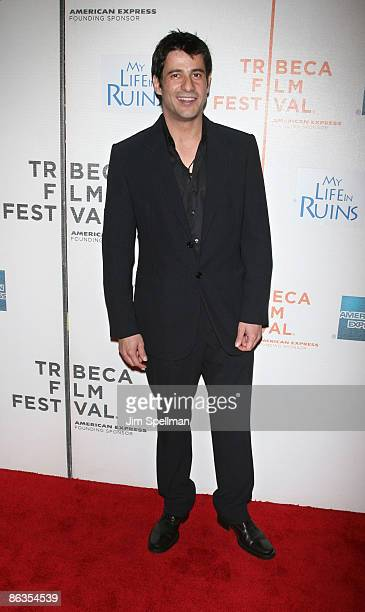 Actor Alexis Georgoulis attends the premiere of My Life in Ruins during the 8th Annual Tribeca Film Festival at BMCC Tribeca Performing Arts Center...