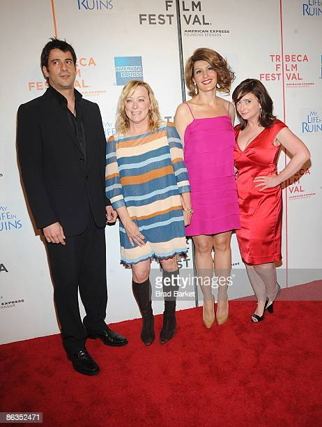 Actor Alexis Georgoulis Fox Searchlight CEO Nancy Utley actresses Nia Vardalos and Rachel Dratch attend the premiere of 'My Life in Ruins' during the...