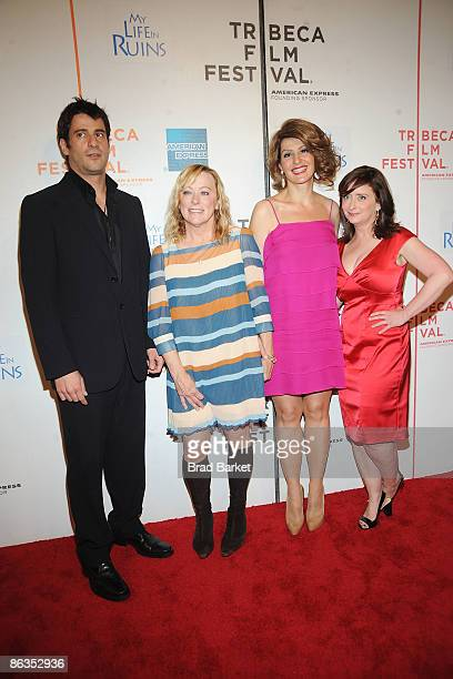 "Actor Alexis Georgoulis, Fox Searchlight CEO Nancy Utley, actresses Nia Vardalos, and Rachel Dratch attend the premiere of ""My Life in Ruins"" during..."