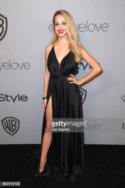 Actor Alexis Knapp attends the 2018 InStyle and Warner Bros 75th Annual Golden Globe Awards PostParty at The Beverly Hilton Hotel on January 7 2018...