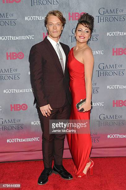 Actor Alfie Allen and Jaime Winstone attend the Game Of Thrones Season 4 New York premiere at Avery Fisher Hall Lincoln Center on March 18 2014 in...