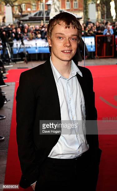 Actor Alfie Allen arrives at the UK premiere of 'Flashbacks of a Fool' at the Empire cinema Leicester Square on April 13 2008 in London England